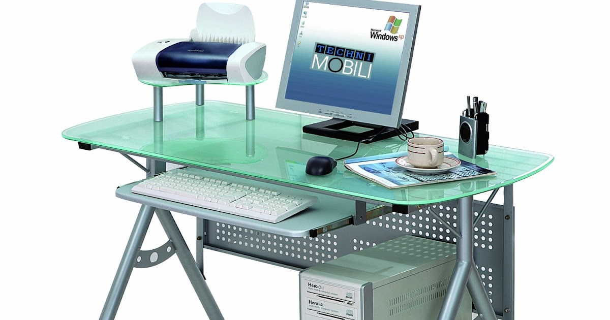 Glass Desk Modern Glass Desk