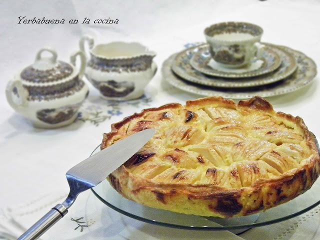 Tarta alsaciana de manzana