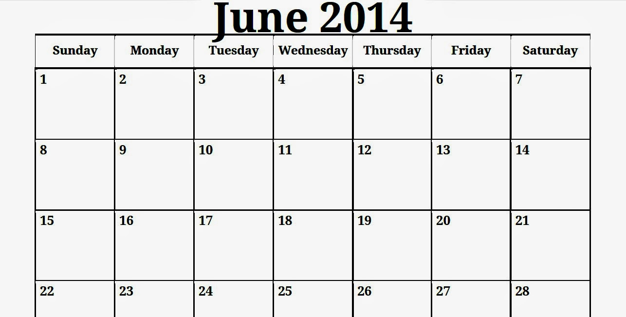 Qt Weekly Calendar : Free printable calendar june