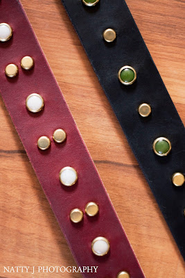 Ella's Lead handcrafted leather collars.