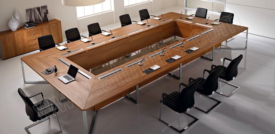 ilave yapılabilen ahşap modern toplantı masası