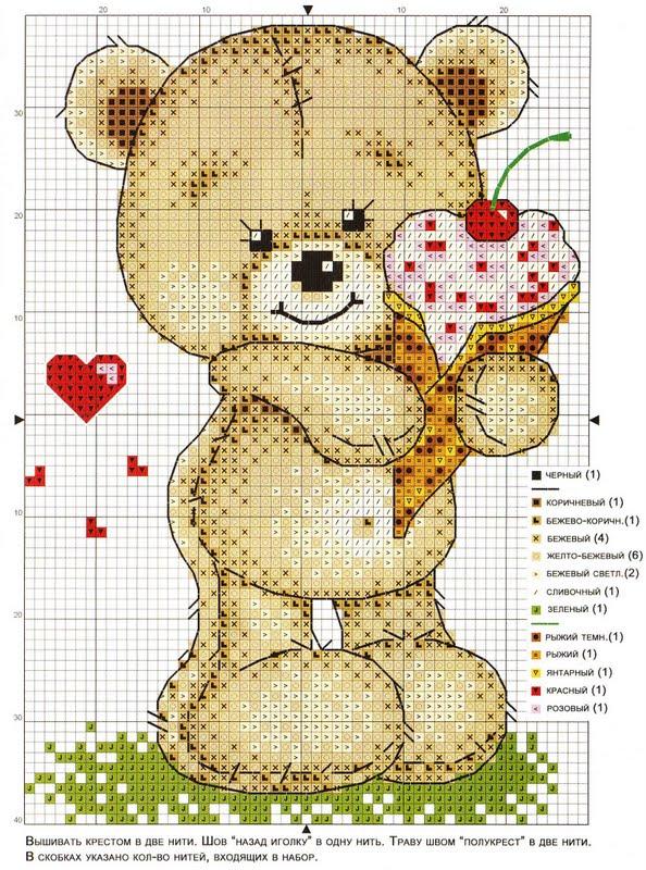 Схема для вышивки крестом друзья