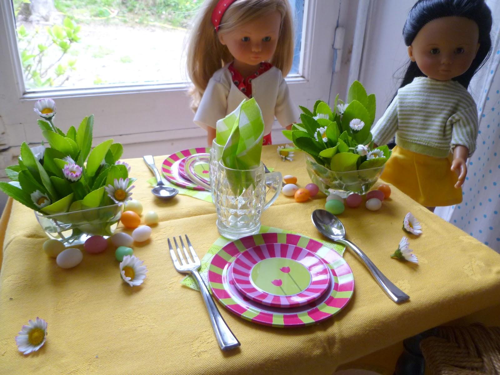 Les ch ries de sidonie la table de p ques - Faire une belle table ...