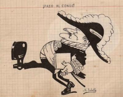 ¡Paso al Conde! Dibujo de Manuel Tobella