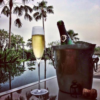 Champagne al aire libre