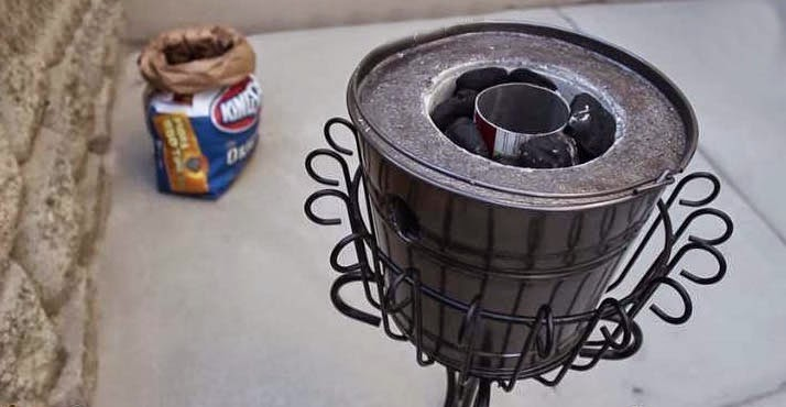 melting cans with the mini metal foundry play 365