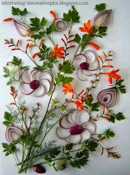 Creative arts from cooking vegetables