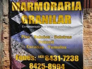 MARMORARIA GRANILAR (SEMPRE PRESENTE NAS CONTRUÇÕES)