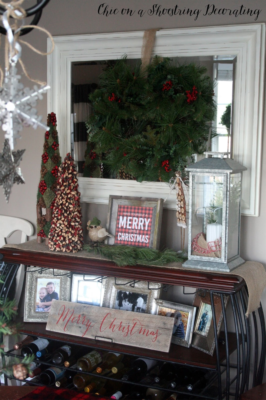 Chic on a shoestring decorating farmhouse christmas decor for Next home xmas decorations