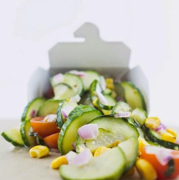 cucumber salad at Sessions West Coast Deli // livingmividaloca.com