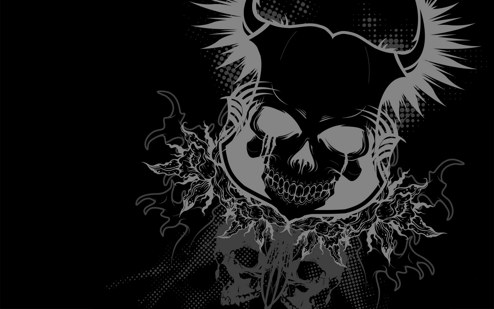 Scary wallpaper skull pictures