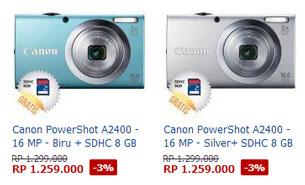 harga canon powershot a2400