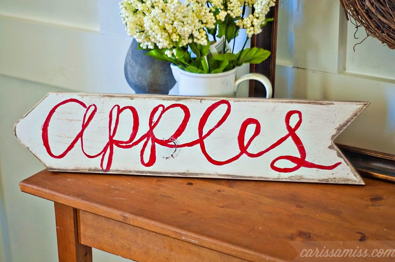 Carissa Miss: Vintage Apple Sign