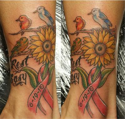 Cancer Ribbon Tattoos