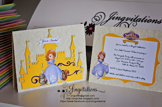 princess sofia the first princess birthday invitations