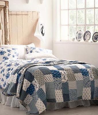 Sivs hus: Soverom i hvitt og blått
