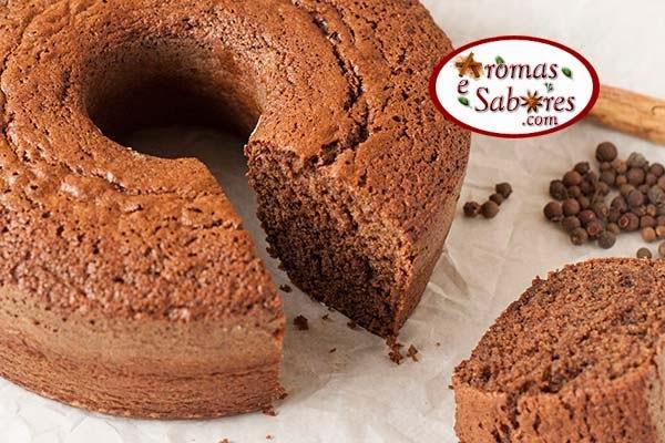 bolo de chocolate com farinha integral e especiarias