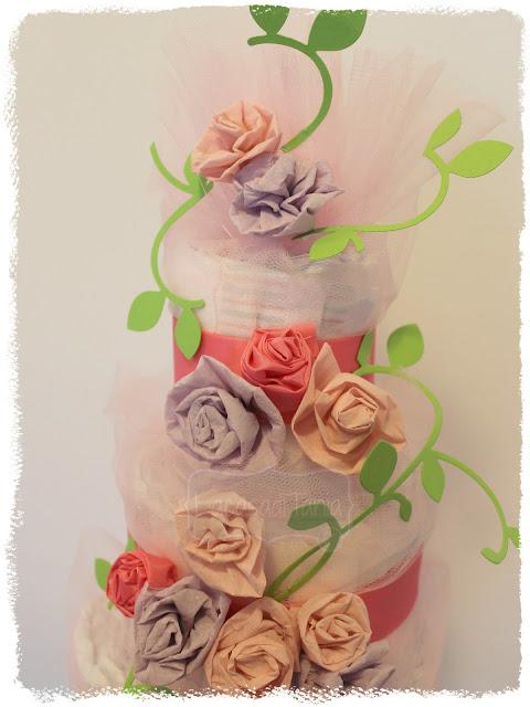 diaper cake paper rose