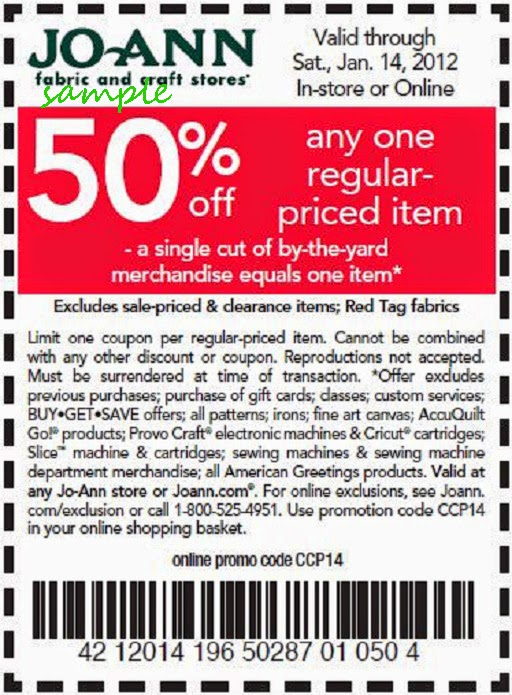 joann coupons november 2014