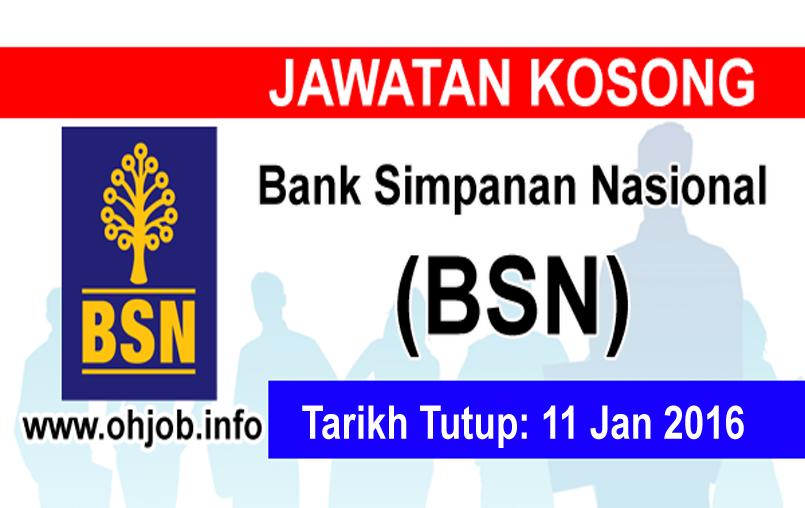 Jawatan Kerja Kosong Bank Simpanan Nasional (BSN) logo www.ohjob.info januari 2016