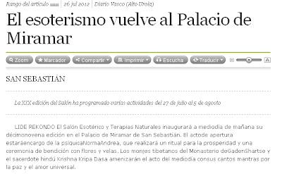 El Esoterismo vuelve al Palacio de Miramar