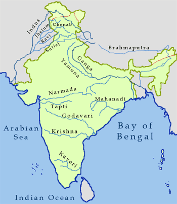 GK for UPSC: Indian River Bodies (Map)