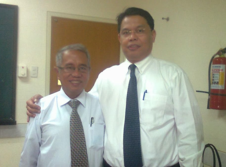 Me and Elder Eleazar S. Collado, visiting general authority of the Seventy