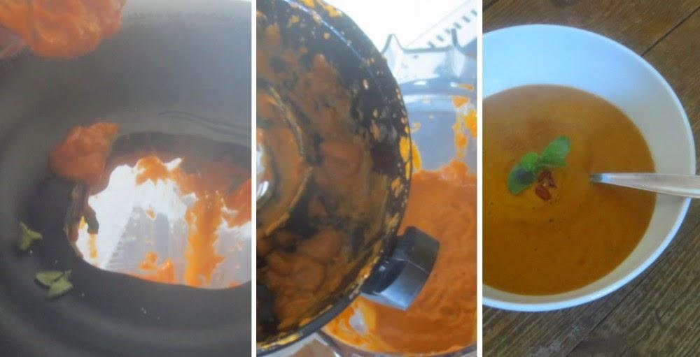 Zubereitung Avocado-Tomaten-Suppe