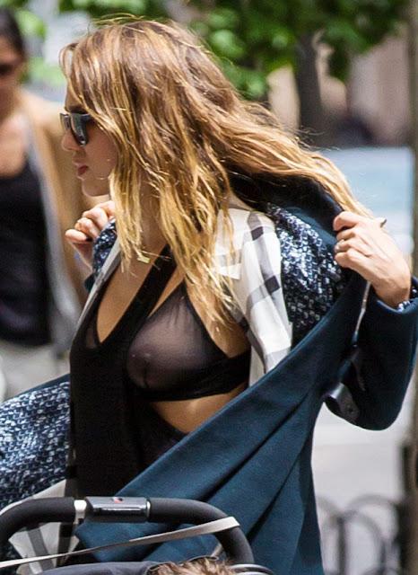 Jessica Alba Nipple Slip
