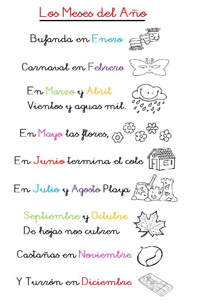 Los+Meses+Del+Ano+Poema ... for young learners: Los meses del año y ...