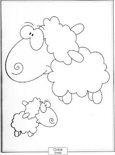Desenho de Ovelha para pintar