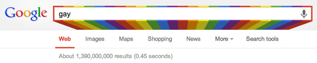 Google Search Box Gets A Rainbow For Gay Pride Month