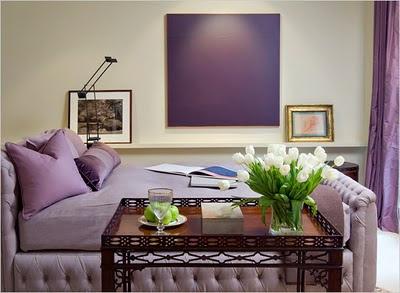 decorar con púrpura el dormitorio