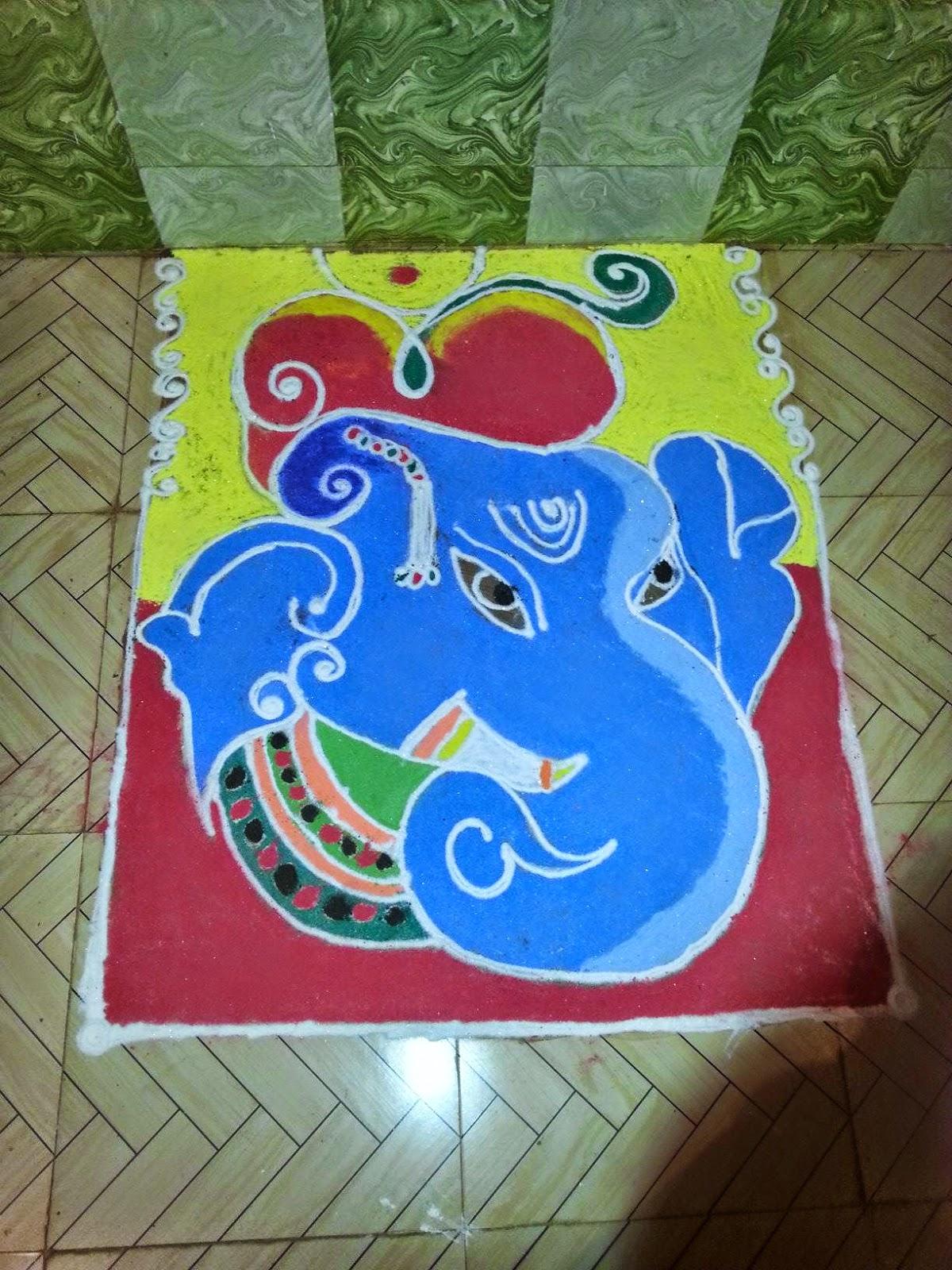 Ganesha Rangoli 27