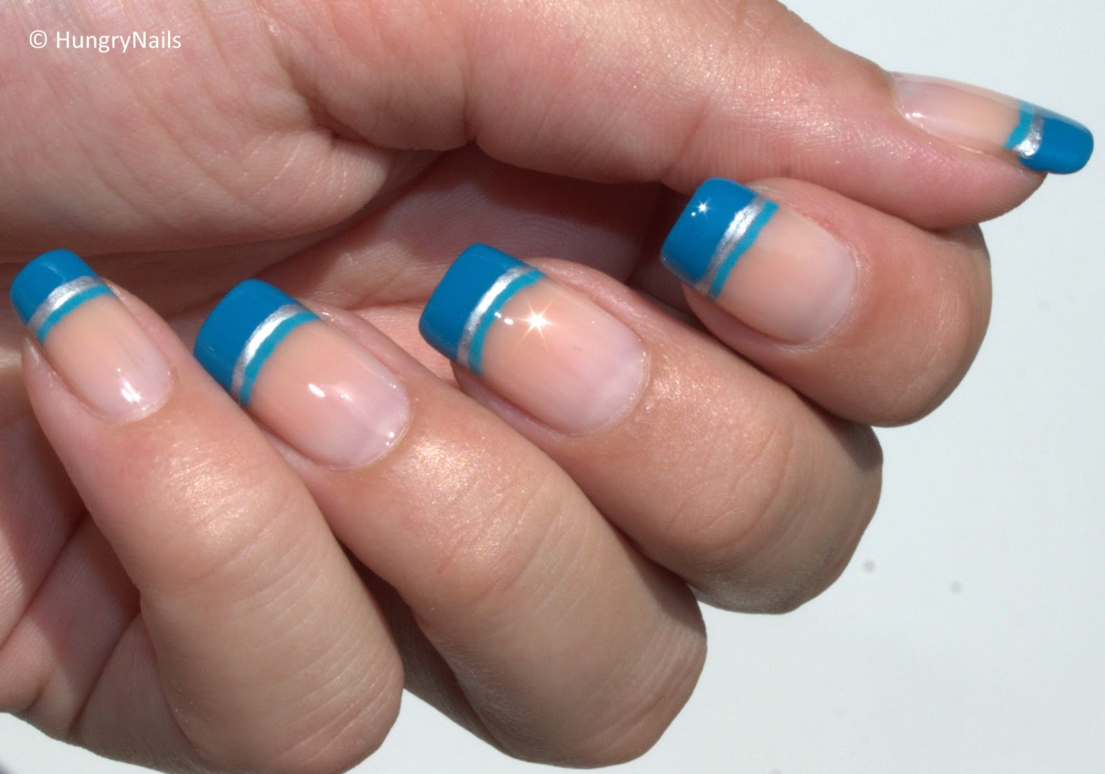 Maybelline Woche #2 | Blue French Nails - HungryNails Blog | Die ...
