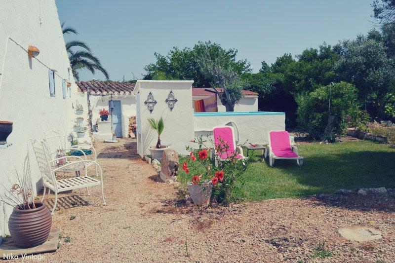 hoy compartimos, blog hop, jardin, menorca, vintage, decoracion, pozo, rincon blanco