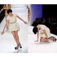 Falling Model: Charity in Cannes (Agyness Deyn)