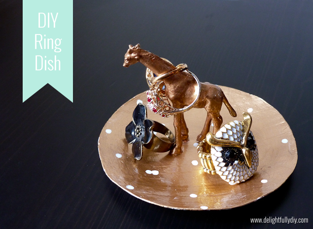 Delightfully DIY: Paper Mache Ring Dish