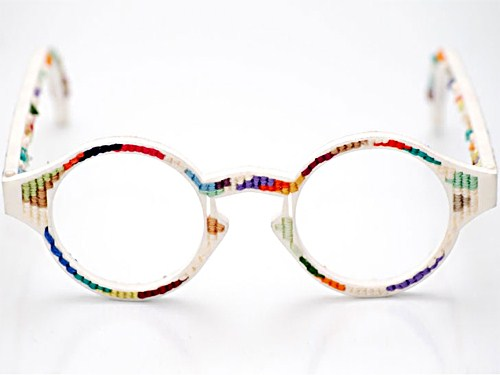 colorful beautiful 3d printed glasses