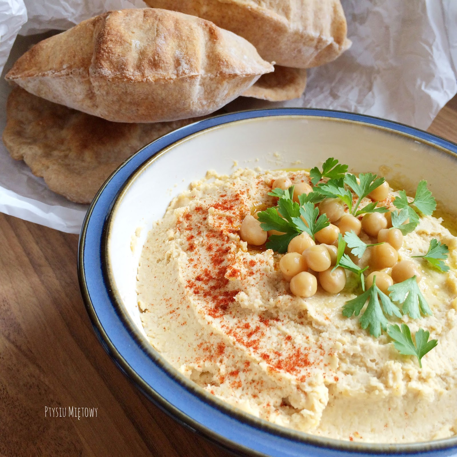 humus, ptysiu mietowy