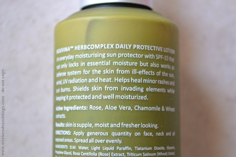lotus herbals professional phyto-rx herbocomplex daily protection lotion spf 15 review