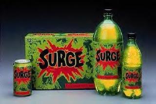 Surge Soda, Surge Energy Soda, Nostalgia Soda