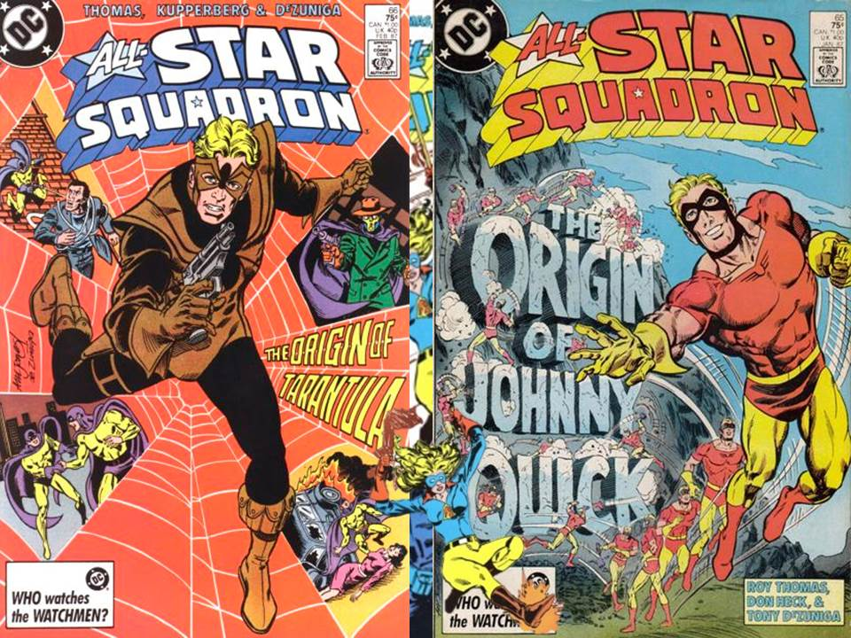 Guide to Golden Age Tarantula, Johnny Quick and Liberty Belle reprints