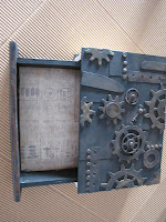 Steampunk Secret Drawer Book Box Present