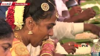 Director Seeman Wedding- Seeman's & his Wife enjoy the wedding feast (பெண், மாப்பிள்ளை கறி விருந்து)