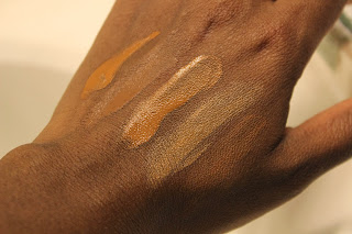 foundation swatches, Chanel, By Terry, Dior BB Cream