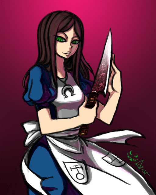 Alice and her Vorpal Blade por azaleaxcr