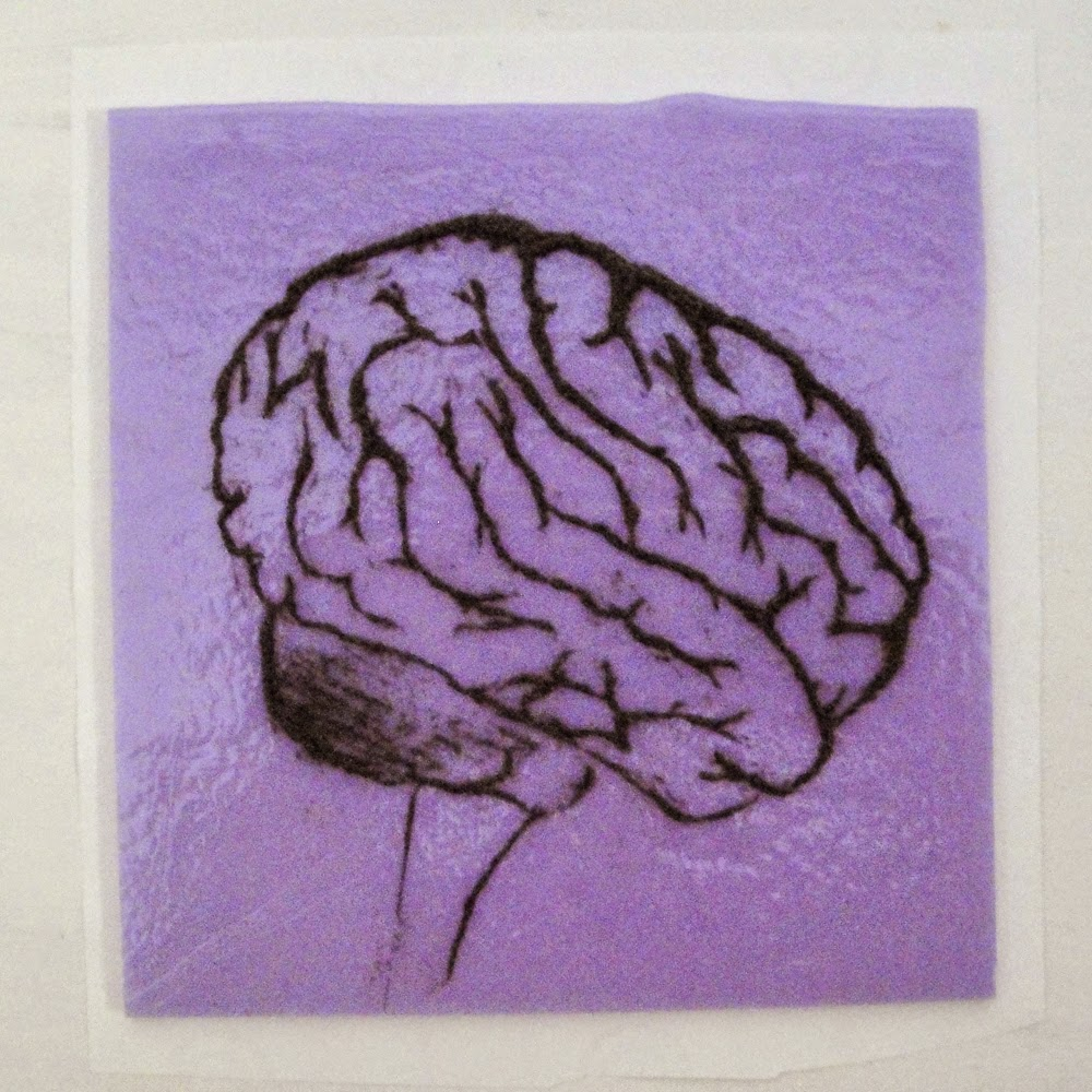 glass powder bullseye sgraffito fused frit painting fear head brain afraid art flutterbybutterfly flutterbyfoto day 15