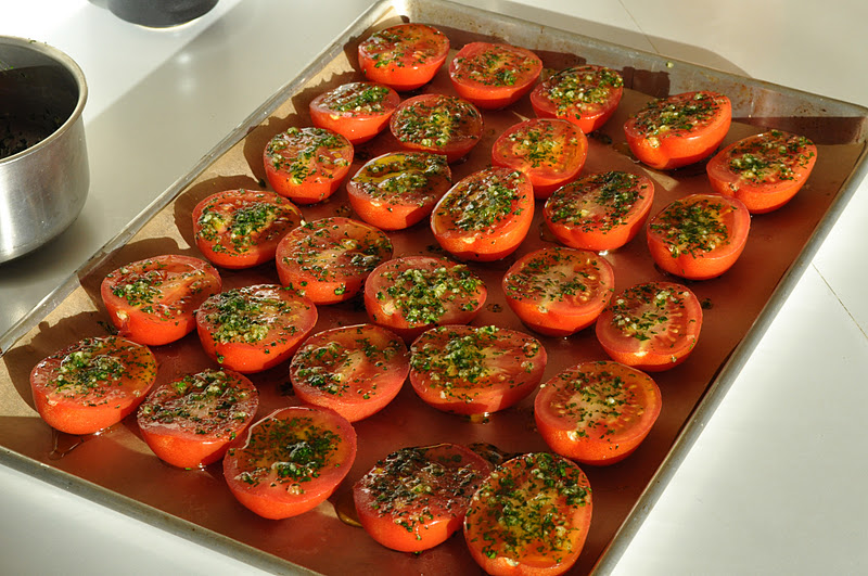 Oven-Dried Heirloom Tomato Pizza Recipe — Dishmaps