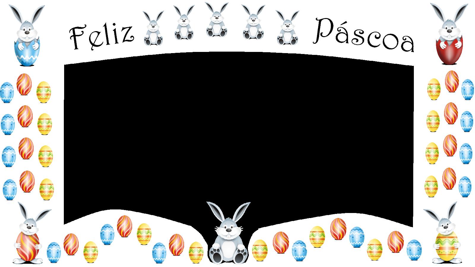 Coelhinhos e ovos-Feliz Pascoa 2 - borda branca png